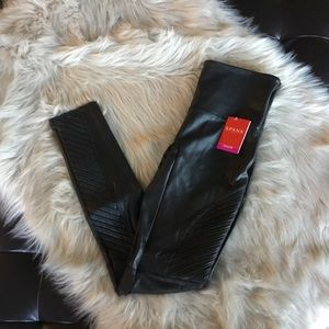 Spanx Faux Leather Moto Leggings Black Medium NWT